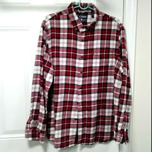 CHAPS Plaid Flannel Button down XL